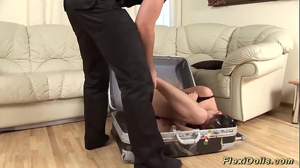 flexi real suitcase doll ballerina rough anal fucked