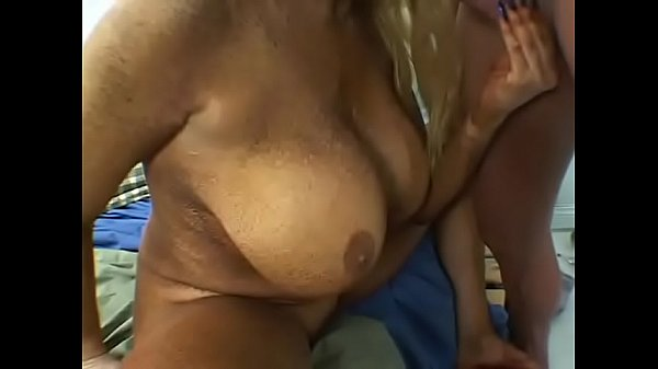 Old pig with big tits do a blowbjob to young cock