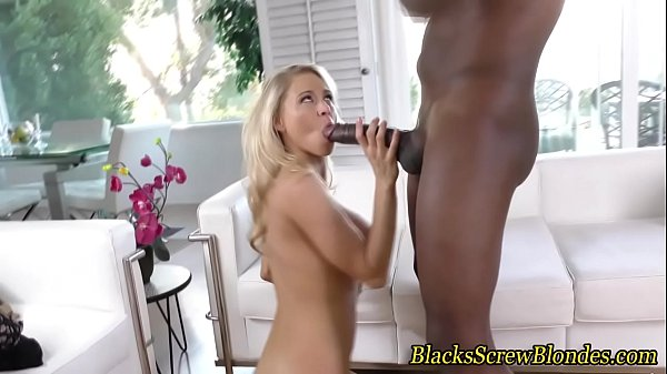 Blonde skank fucks black