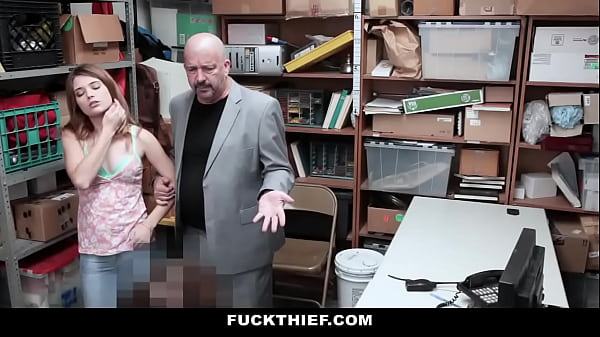 Young Shoplifter Punished in Front of Dad