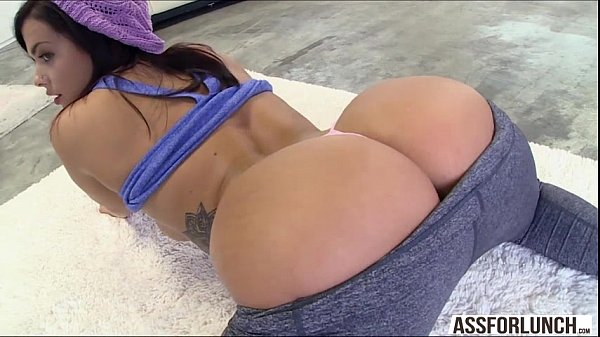 Dude with a big black cock slams Keishas wet pussy from behind