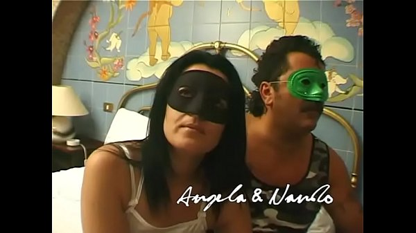 Italian amateur couple fucking in mask