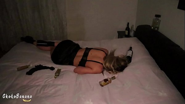 New Year Party with a Blonde Slut Horny Teen filled her Pussy Thumb