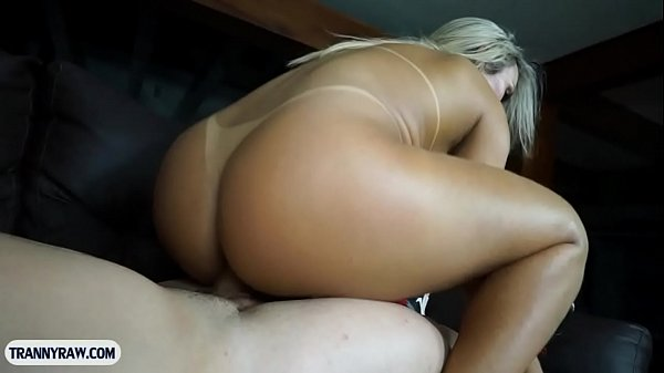 Curvy Brazilian shemale with big tits having wild anal sex