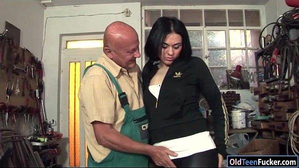 Romanian Marsha Cortez sucks and fucking old bike repairman