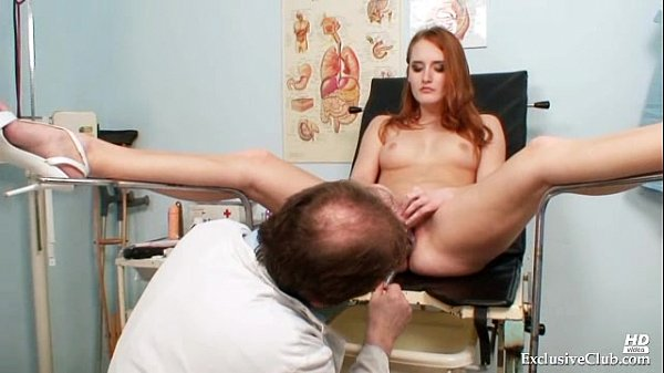 Redhead Denisa gyno pussy speculum vaginal examination Thumb