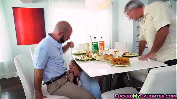 Naughty Alyssa Cole fuck with dad's friend