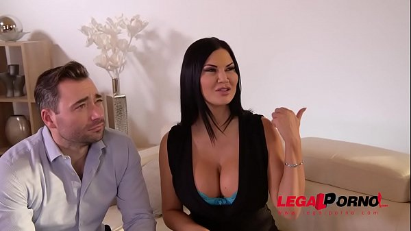 Submissive busty bombshell Jasmine Jae spanked, tied up & double penetrated GP488