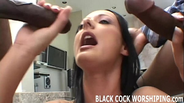 I want to take two big black cocks in front of you
