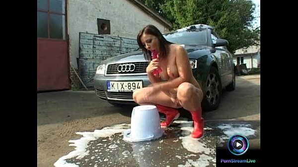 Maria Belucci gets wet and soaped up with her luscious tits and cunt