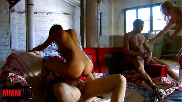 Crazy group sex with 2 honry nymphomaniac spanish Xmas babes