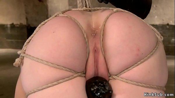 סרטון פורנו Redhead is sp toyed on hogtie bondage