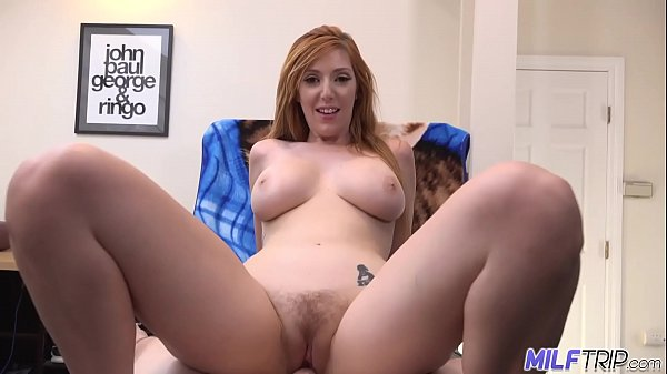 MILF Trip - Sexy redheaded MILF gets her hairy ...