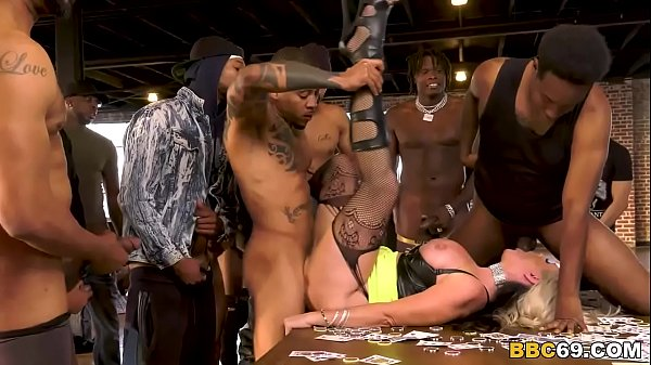 Busty MILF Alena Croft Survives Gangbang With 18 Big Black Dicks