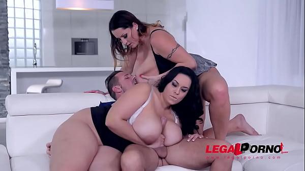 Top-heavy babes Laura Orsolya & Anastasia Lux t...