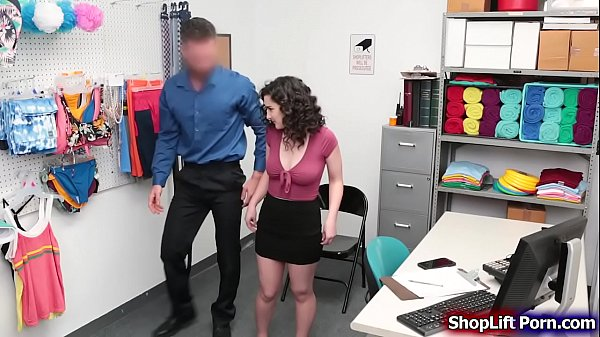 Teen babe pussy rammed by store security