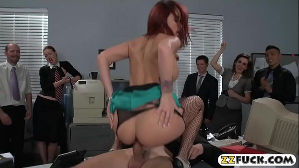 Gorgeous round booty business woman anal