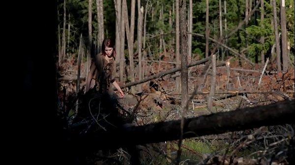 Naked girl masturbate in forest  thumbnail