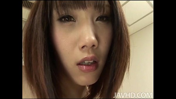 Perky titty babe Ageha Kinashita with her 2 guys in the living room having her h