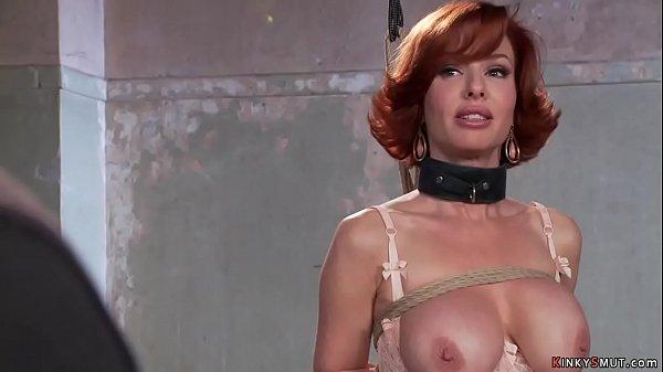 Busty redhead MILF rides huge dick