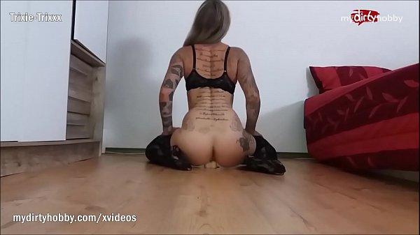 My Dirty Hobby - Hot busty tattooed babe dildo play