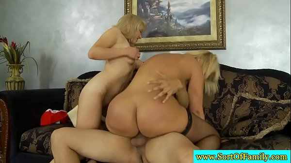 Mature stepmom threeway fun with teens