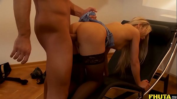 Blonde Teen In Stocking Hardcore Anal Fuck