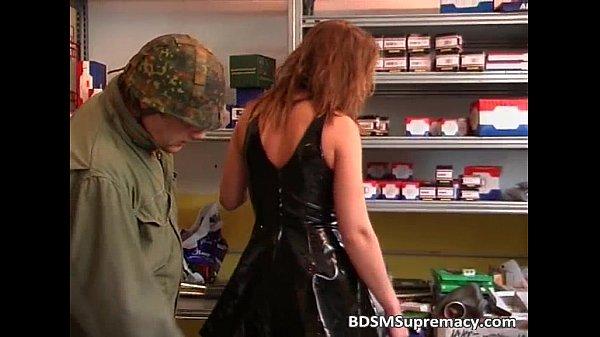 Horny slut enjoying in nasty military