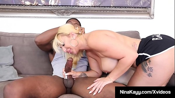 Nympho Nina Kayy Super Fucks Her Coach's Big Black Cock!