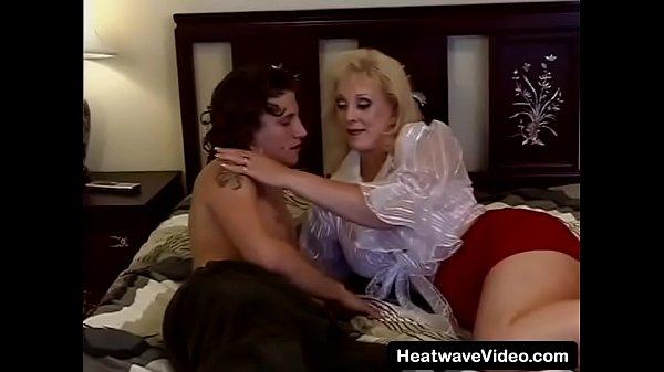 Excited older woman seduces college stud