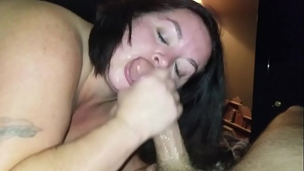 Sexy BBW Sucks Dick and Squirts all Over Cock (pt 2)
