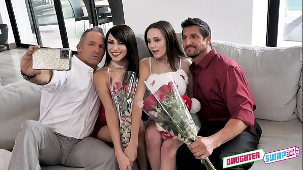 Valentines Day Daughter Orgy - Aften Opal, Hime Marie - FULL SCENE on