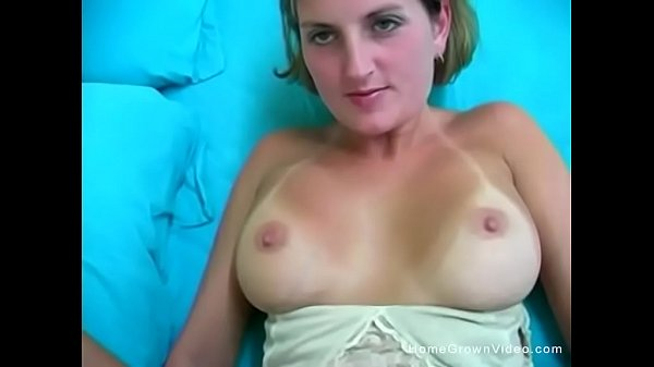 Big tit amateur blonde just really loves cock