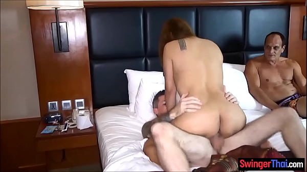 Cheating Thai wife loves a good anal threesome ...