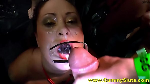 Hot Stockings Milf Gets Covered In Goo