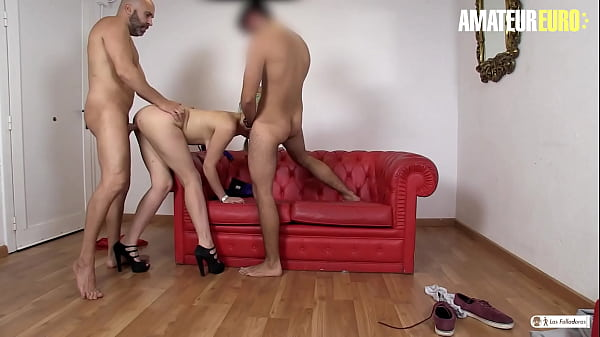 AMATEUR EURO - #Liz Rainbow - The Newbie Can't Get Hard To Fuck Her So Max Cortes Join In