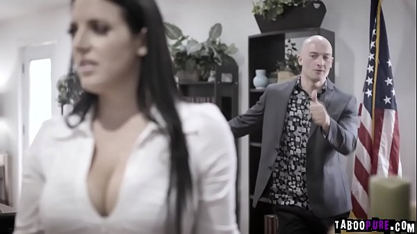 Busty politician Angela White was blackmailed and fucked by this horny businessman Zac Wild. Thumb