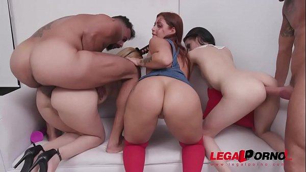 Halloween Orgy with Natasha Teen, Emily Pink & Laura Monroy (big gapes, intense anal & DP) SZ2312