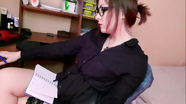 Sexy Teacher Passionate Play Pussy Sex Toy after Checking Homework