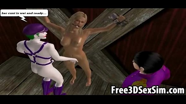 Sexy 3D cartoon babe getting fucked by the joker