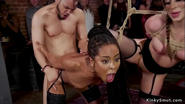 Ebony and brunette anal orgy bdsm party Thumb
