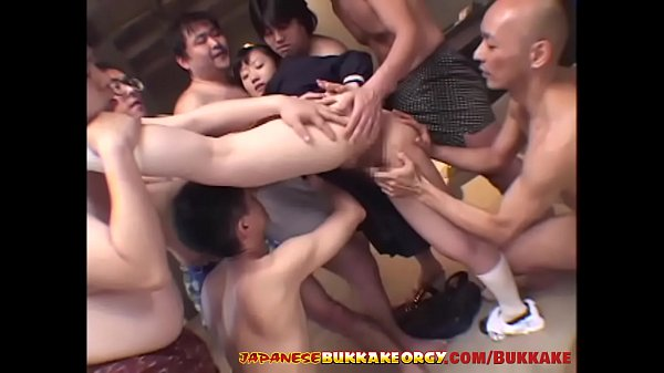 Young Japanese Schoolgirl hardcore bukkake - Japanese Bukkake Orgy