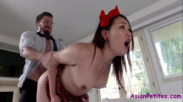 Rich White Man Lures Asian Teen Pussy- Jade Luv