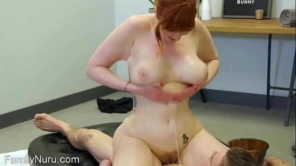 Stepmom tricks stepson into erotic sex masssage