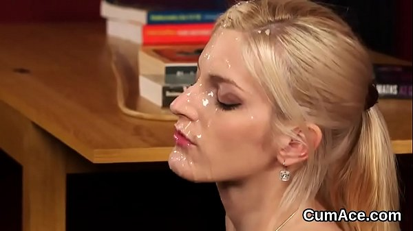Spicy sex kitten gets jizz shot on her face swallowing all the cream Thumb