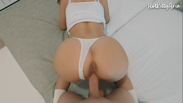Stepbrother fucks busty blonde and cums inside ...