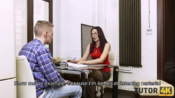 TUTOR4K. Guy told teacher she must spread legs to get some money for the lesson Thumb