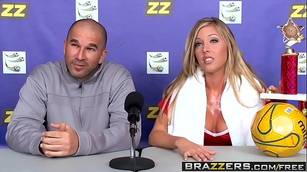 Brazzers - Big Tits In Sports -  Suck-Sex in Soccer scene starring Samantha Saint and Xander Corvus  thumbnail