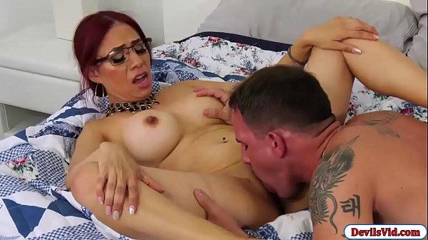 Slut granny latina fucking a college guy