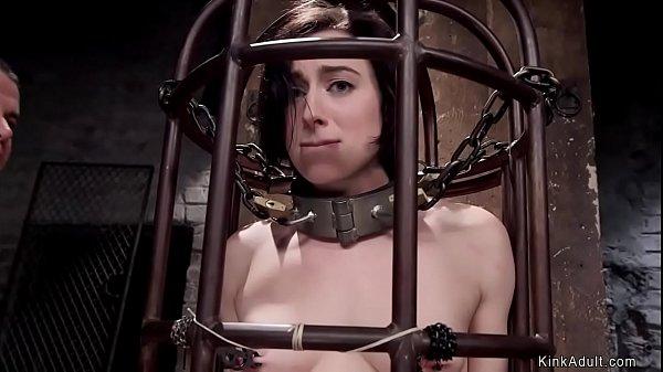 Slave trainee takes huge dick threesome
